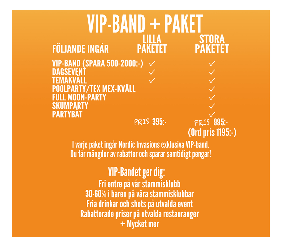 VIP band + package
